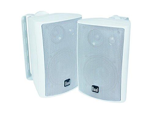 Dual LU43PW 100 Watt 3-way Indoor/Outdoor Speakers in White (Pair)