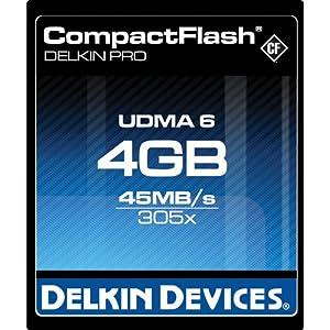 Delkin 4GB Pro UDMA Compact Flash Memory Card 305x