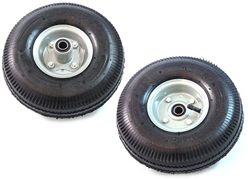 Set of 2 NK Pneumatic Hand Truck Air Tires 10″ x 3-1/2″ Wheel with 5/8″ ID 4.10/3.50