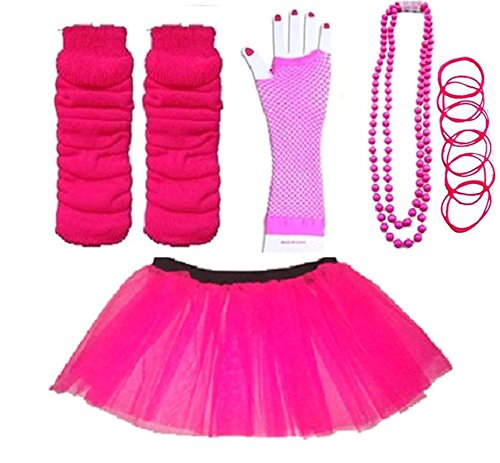 Plus Size Neon Tutu, Set with Accessories. Many Colours. Size 16 to 22