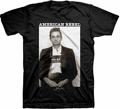Johnny Cash American Rebel Mugshot T-Shirt Medium
