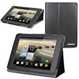 Evecase® SlimBook Leather Folio Stand Case Cover for Acer Iconia A1-810 - 7.9' Android Tablet PC Wifi 3G - Black