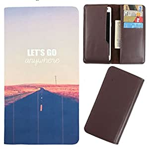 DooDa - For LG leon PU Leather Designer Fashionable Fancy Case Cover Pouch With Card & Cash Slots & Smooth Inner Velvet