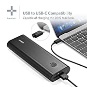 Anker PowerCore+ 20100 USB-C/Type-C Ultra-High-Capacity Premium External Battery/Portable Charger/Power Bank (6A Output, PowerIQ & VoltageBoost) for Apple MacBook, iPhone, iPad, Samsung & more