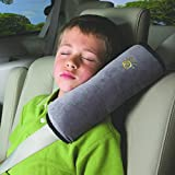 LeadYourLife Comfortable Duplex suede nap children/kids traveling pillow Seat belt pillow shoulder pad Booster car seat pillow (Gray)