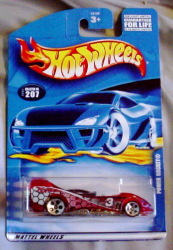Hot Wheels 2001 Power Rocket Mainline RED #207 1:64 Scale