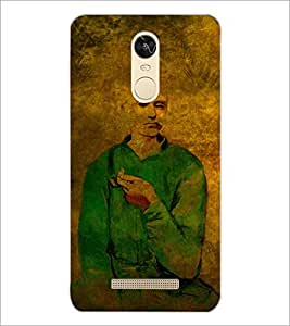 PrintDhaba Man Painting D-3255 Back Case Cover for XIAOMI REDMI NOTE 3 (Multi-Coloured)