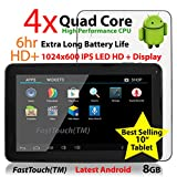 10'' Google Android Tablet PC 8GB / Android 4.2 / 1GB DDR3 Ram / 10-Point Capacitive Touch Screen / Cortex A9 Processor / Dual Camera / FastTouch(TM)