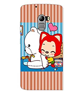 PrintDhaba Cartoon D-3876 Back Case Cover for LENOVO VIBE X3 c78 (Multi-Coloured)