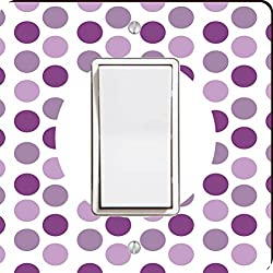 Rikki Knight World's Greatest Mom Purple Polka Dot Single Rocker Light Switch Plate