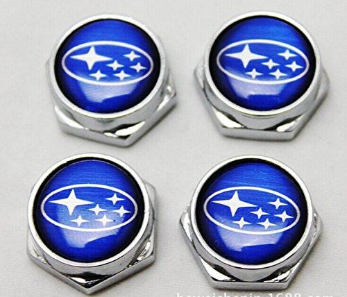 4 Pcs Separate Chrome LICENSE PLATE FRAME Bolt Screws For Subaru (For Subaru) (Subaru License Plate Frame Chrome compare prices)