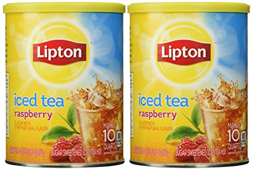 Lipton, Sweetened Instant Tea, Wild Raspberry, 26.8oz Canister (Pack of 2)