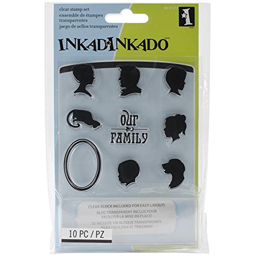 Inkadinkado Inchie Bundle Rubber Stamp, Cameo