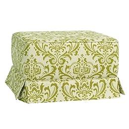 Product Image Little Castle Gliding Ottoman - Olive/ Linen