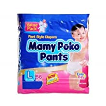 Mamy Poko Pant Style Large Size Diapers (56 Count)