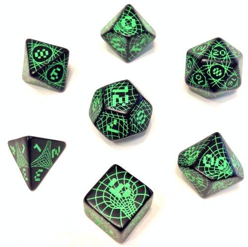 Futuristic/Sci-Fi 7Pc Polyhedral Dice Set
