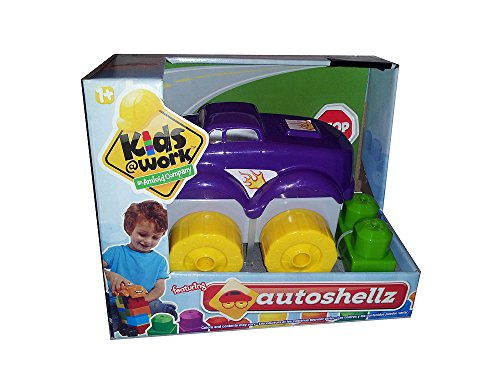 Kids@Work Autoshellz Purple Car Stacking Blocks Set