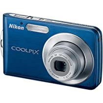 Nikon Coolpix S210 8MP Digital Camera with 3x Optical Zoom (Cool Blue)