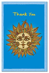Tree-Free Greetings 94619 ECOnotes Thank You Card Set, 4 x 6 Inches, 12 Count Cards with Envelopes, Sunny Thanks
