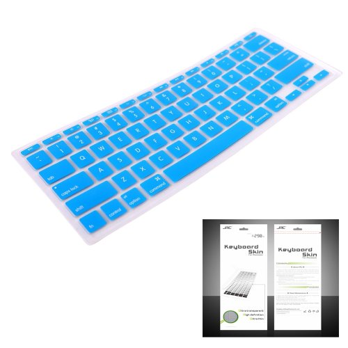 "Smart Tech ® Ultra Thin Silicone Keyboard Cover Skin For Apple Macbook Air 11.6""(Model:A1370 And A1465) (Keyboard Cove+Aqua Blue)"