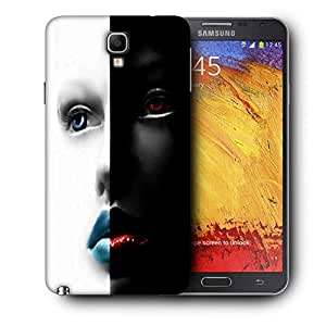 Snoogg Black And White Face Printed Protective Phone Back Case Cover For Samsung Galaxy NOTE 3 NEO / Note III
