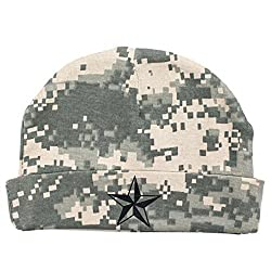 Crazy Baby Clothing Black Star Baby Beanie One Size in Color Digital Camo