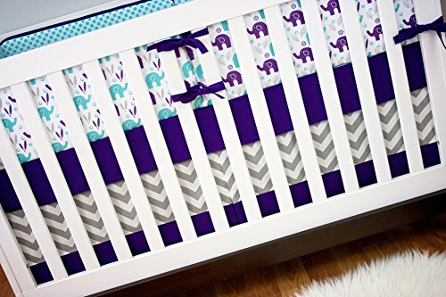 Modified Tot Crib Bedding, Grape Ele