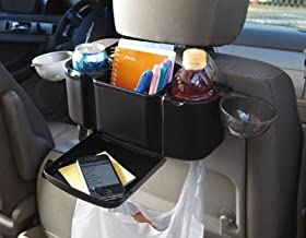 Zone Tech Style Auto Back Seat Organizer with Tray For Holding Food In Car