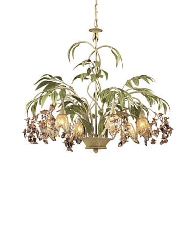 Artistic Lighting 6-Light Seashell & Amber Glass Chandelier