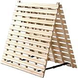 タンスのゲン すのこマット セミダブル 天然桐 折りたたみ 二つ折りタイプ リブ加工 完成品 風-kaze- 1761000200