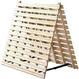 タンスのゲン すのこマット シングル 折りたたみ 二つ折りタイプ リブ加工 完成品 風-kaze- 1761000100
