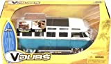 V Dubs 1962 Volkswagen VW Bus 1:24th Scale Die Cast Metal (Metallic Blue and White)