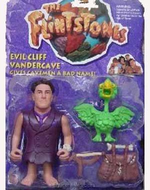 The Flintstones Movie Evil Cliff Vandercave (Kyle MacLachlan) Action Figure - 1