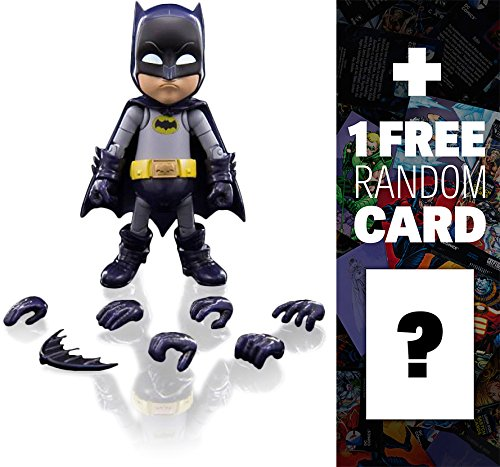 "Batman (1966 TV Version): ~5.5"" Herocross Hybrid Metal Figuration Action Figure Series + 1 FREE Official DC Trading Card Bundle"