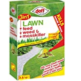 Doff 3 in 1 Lawn Feed Weed and Mosskiller 3.5kg - Treats 100 meter Squared approx