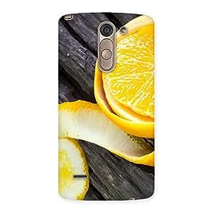 Ajay Enterprises Fill Orange Peal Blackish Back Case Cover for LG G3 Stylus