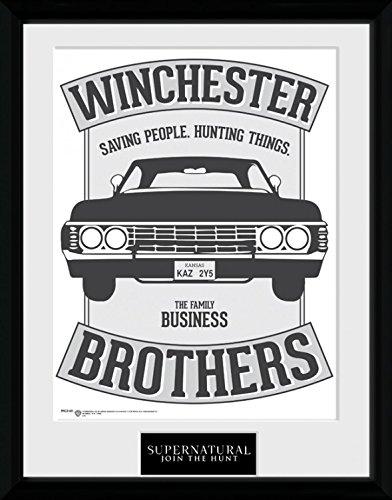 1art1-100230-supernatural-winchester-gerahmtes-poster-fur-fans-und-sammler-40-x-30-cm