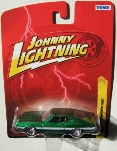 Johnny Lightning R24 1972 Ford Torino Sport Green - 1