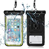 iPod Shuffle Case, iRainy Upgraded Version Audio Waterproof Case Bag for iPod Shuffle Built in Headphone Adapter, Waterproof Earphones, Removable Strap Armband (For iPod Shuffle)