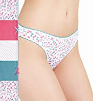 5 Pack Cotton Rich Assorted Bikini Knickers