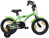 PROMETHEUS Kinderfahrrad 14 Zoll Jungen Kinderrad in Farbe Grün &