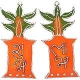 999Store Handmade Multicolour Wooden Shubh Labh Diwali Door Hanging Tulsi