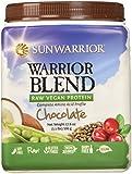 Sunwarrior Warrior Blend Raw Vegan Protein Powder, Chocolate 1.1 lbs (FFP)