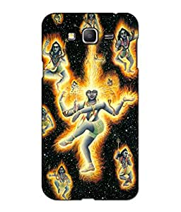 Crazymonk Premium Digital Printed 3D Back Cover For Samsung Galaxy GM