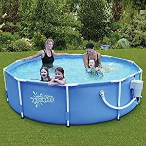 Summer Escapes Above Ground Family Swimming Pool 10 39 X 30 Metal Frame Patio
