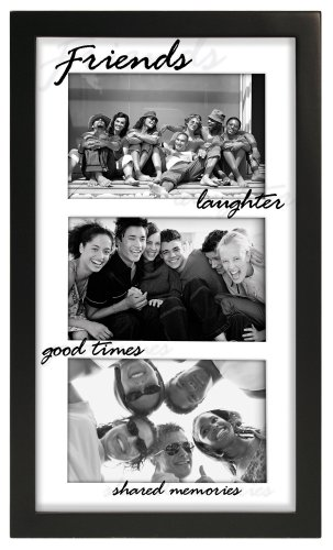 Cheap Photo Frames: Friends 3 Opening Picture Frame Collage Black 4x6\