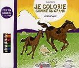 echange, troc Vincent Boyer - Je colorie comme un grand : Les chevaux