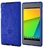 Cruzerlite Bugdroid Circuit Case for Nexus 7 (2013)(ブルー) N7FHD-Circuit-Blue