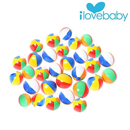 Purchase 30 PCS Mini Inflatable Beach Ball Inflated and 9-inch Deflated