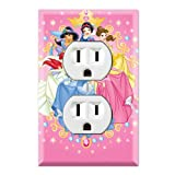Princess Friends Decorative Duplex Outlet Wall Plate Cover